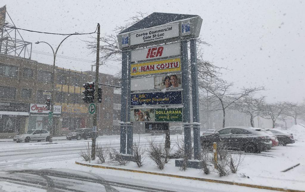 Nieva en Montreal en Abril