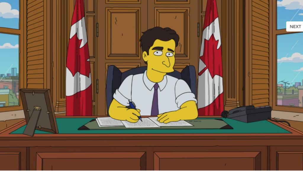 Aparecerá Trudeau en Los Simpsons