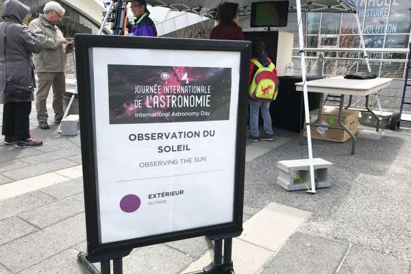 Día Internacional de la Astronomía en Montreal
